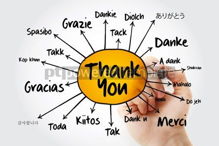 Business: Thank You in different languages mind map flowchart business co #13257