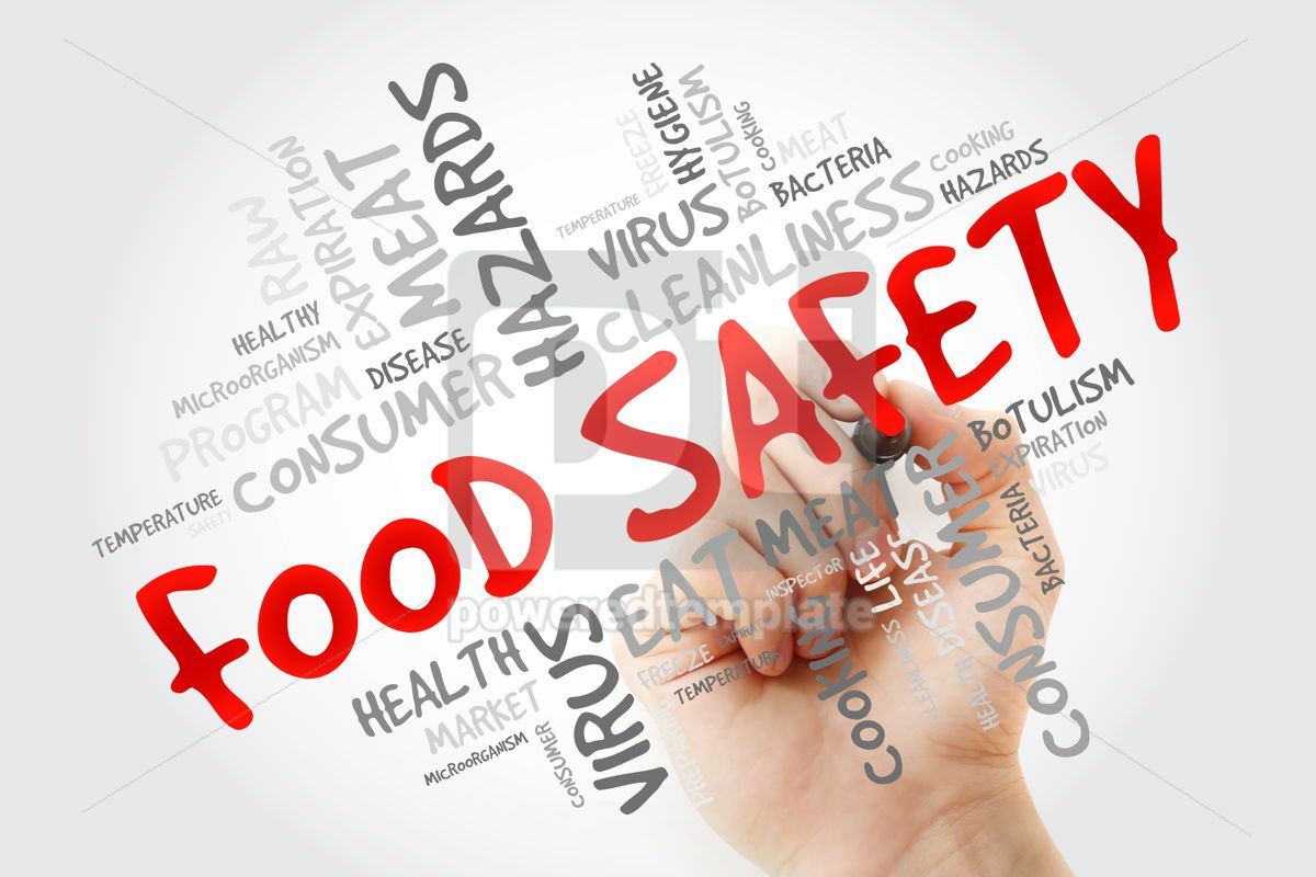 Food Safety word cloud with marker concept background, 13259, Business — PoweredTemplate.com