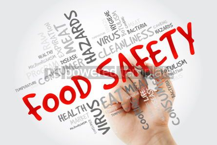 Business: Food Safety word cloud with marker concept background #13259