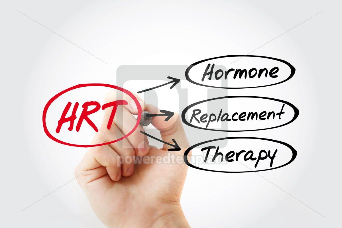 HRT - Hormone Replacement Therapy acronym health concept backgr, 13260, Education — PoweredTemplate.com