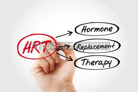 Education: HRT - Hormone Replacement Therapy acronym health concept backgr #13260