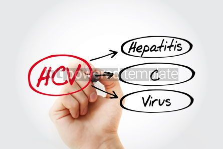 Education: HCV - Hepatitis C virus acronym health concept background #13261
