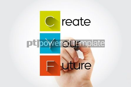 Education: CYF - Create Your Future acronym with marker concept background #13267