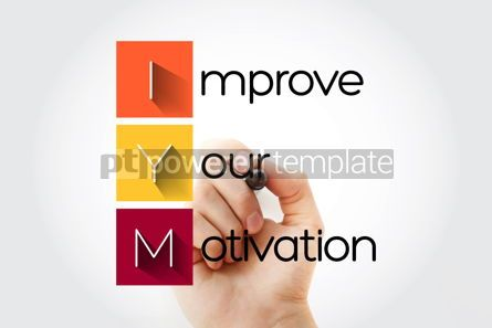 Education: IYM - Improve Your Motivation acronym with marker concept backg #13268
