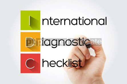 Education: IDC - International Diagnostic Checklist acronym with marker bu #13270