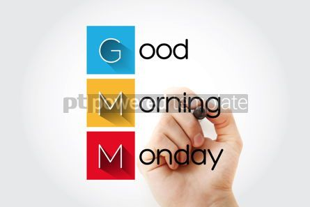 Business: GMM - Good Morning Monday acronym with marker concept backgroun #13272