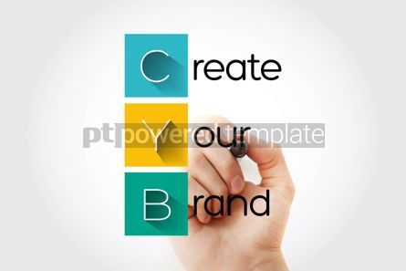 Business: CYB - Create Your Brand acronym with marker business concept ba #13273