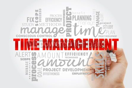 Business: Time Management word cloud collage #13285