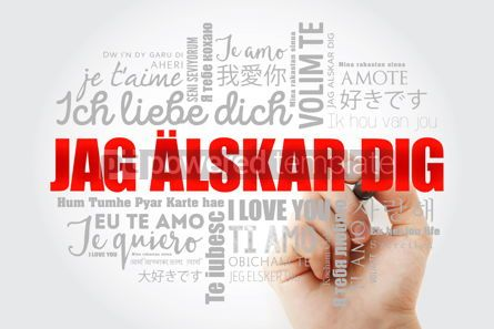 Education: Jag alskar dig I Love You in Swedish word cloud #13293