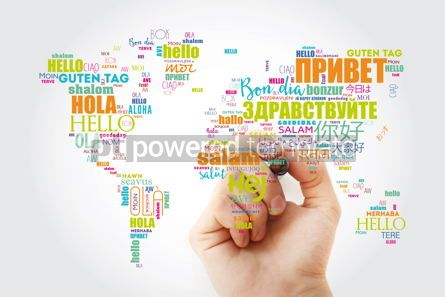 Business: Hello in different languages word cloud #13294