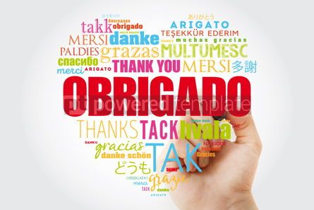 Business: Obrigado Thank You in Portuguese Word Cloud #13296