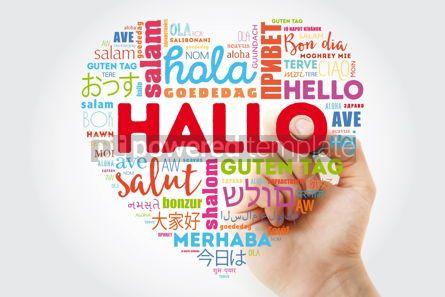 Business: Hallo Hello Greeting in German word cloud #13298
