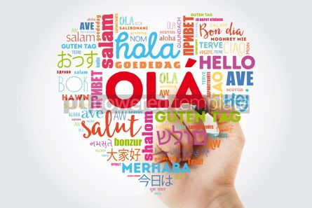Business: OLA Hello Greeting in Portuguese love heart #13300
