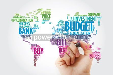 Business: Business and Invest word cloud in shape of world map finance co #13308