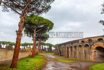 Architecture : Amphitheatre in ancient Roman city of Pompei Italy #13315