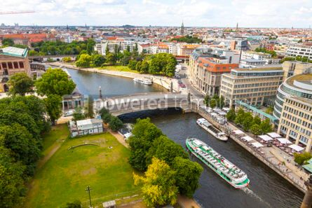 Architecture : Aerial view of Spree River in Berlin city Germany #13320