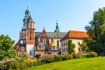 Architecture : Summer view of Wawel Royal Castle complex in Krakow Poland #13321