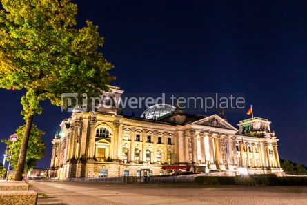 Architecture : German parliament building Bundestag in Berlin Germany #13322
