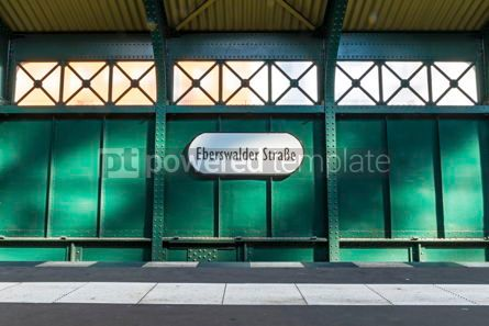 Architecture: Eberswalder Strasse U-Bahn metro station sign in Berlin Germany #13323