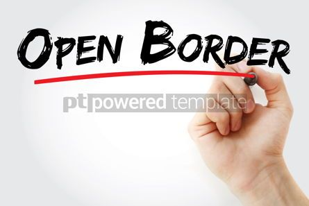 Business: Open border text with marker #13329