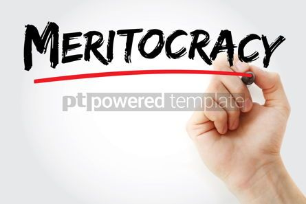 Business: Meritocracy text with marker #13331