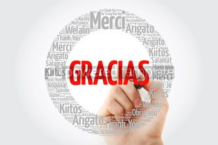 Business: Gracias Thank You in Spanish word cloud #13335