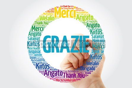 Business: Grazie Thank You in Italian word cloud #13338