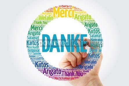 Business: Danke Thank You in German word cloud #13339