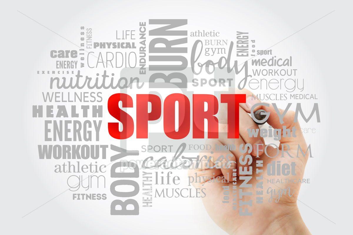 SPORT word cloud fitness, 13340, Business — PoweredTemplate.com