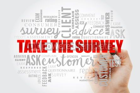 Business: Take the Survey word cloud collage #13341