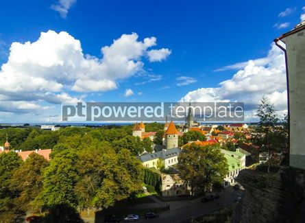 Architecture : Aerial view of Tallinn Old Town Vanalinn Estonia #13363