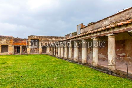 Architecture : Ruins of Ancient Roman city of Pompei Italy #13364