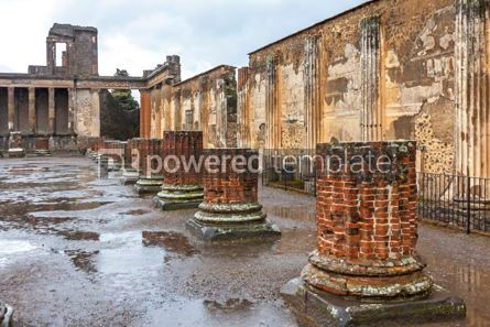 Architecture : Ancient Roman city of Pompei Italy #13365