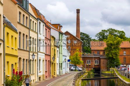 Architecture : On the streets of Wismar old town Germany #13366