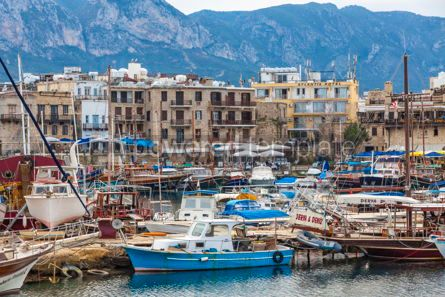 Architecture : Kyrenia Girne old harbour Northern Cyprus #13367
