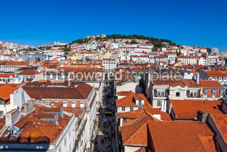 Architecture : Aerial view of Lisbon old town Portugal #13371