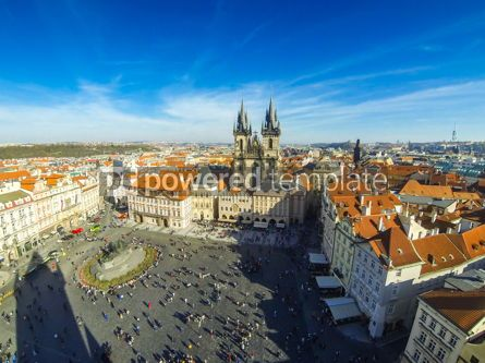 Architecture : Old Town Square Staromestske namesti in Prague Czech Republic #13372