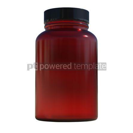 Health: Supplement bottle mock-up 3d illustration #13374