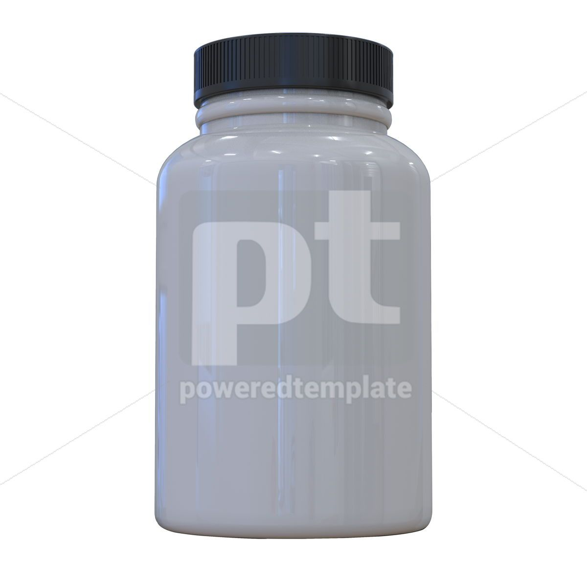 Supplement bottle mock-up 3d illustration White pills bottle, 13375, Health — PoweredTemplate.com