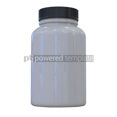 Health: Supplement bottle mock-up 3d illustration White pills bottle #13375