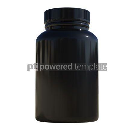 Health: Supplement bottle mock-up 3d illustration #13376