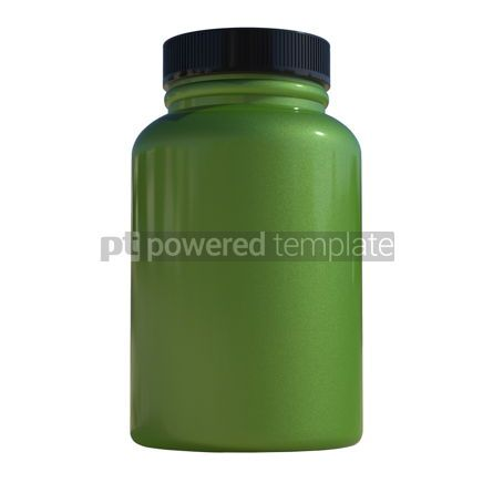 Health: Supplement bottle mock-up 3d illustration #13377