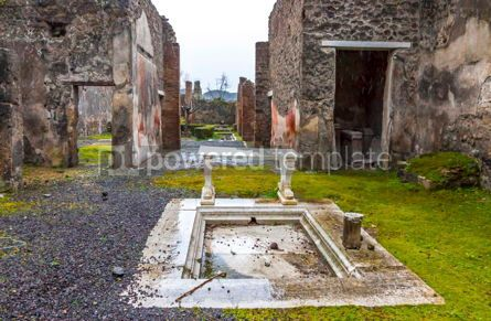 Architecture : Ruins of Ancient Roman city of Pompei Italy #13380