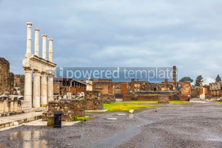 Architecture : Ancient Roman city of Pompei Italy #13381