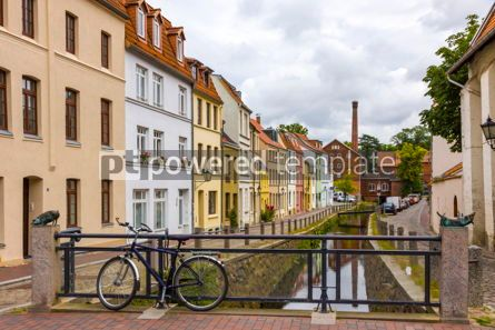 Architecture : On the streets of Wismar old town Germany #13383