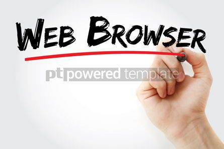 Business: Web Browser text with marker #13411