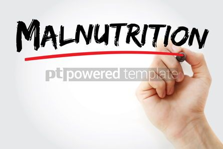Business: Malnutrition text with marker #13418
