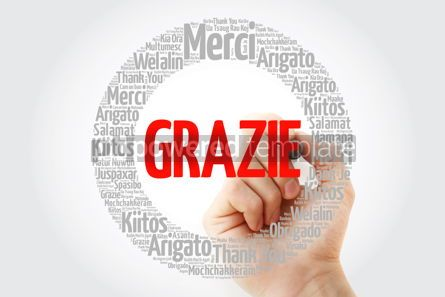 Business: Grazie Thank You in Italian word cloud #13425