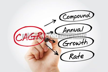 Business: CAGR - Compound Annual Growth Rate acronym with marker business #13428