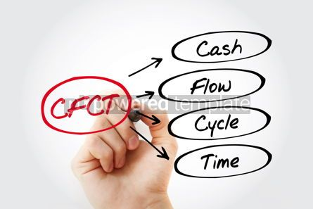 Business: CFCT - Cash Flow Cycle Time acronym with marker business concep #13431
